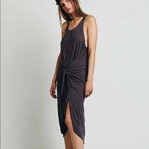 Free People Back to Town asymmetrical Jersey dress